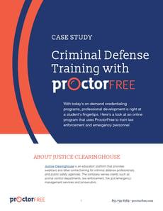 Case Study: Online Proctoring for Criminal Defense and Law Enforcement Training